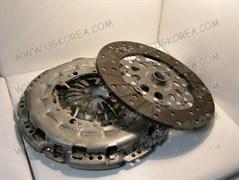 Диск сцепления+Корзина сцепления K.SORENTO с 06-09г.,H.STAREX GRAND с 07г. дв.D4CB ориг. (41200-49920/49930) диск бездемферный