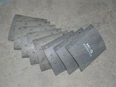 Накладки тормозные RR K.GRANBIRD до 06г. (AA96A-26725) ширина 218 мм. в ком. 8 шт.
