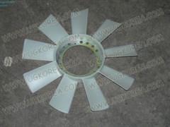 Вентилятор радиатора двигателя S.Y.ISTANA,MUSSO,MUSSO SPORTS,KORANDO ориг. (6612003323) крепление вискомуфты на 4 болта