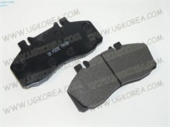 Колодки тормозные FR H.COUNTY с 07г.,MIGHTY с 06г.,HD45/HD65 с 10г. (FPH22/SP1207/58160-5K300) 174,4*85,5мм. дисковые с проводниками