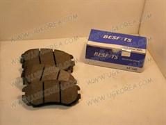 Колодки тормозные FR H.AVANTE XD,HD/ELANTRA с 00г.,SONATA NEW EF(тагаз.),NF SONATA (15 ),(TUCSON,SPORTAGE NEW до 09г.),TUSCANI,SOUL,MAGENTIS II15   BESFITS (BF1007/SP1155/SP1202/FPH21/58101-2HA10/2EA21) 131.4*59.9мм.