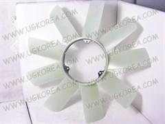 Вентилятор радиатора двигателя S.Y.KORANDO,MUSSO с 01-05г.,MUSSO SPORTS,REXTON с 02-06г. ориг. (6612003623) крепление вискомуфты на 3 болта