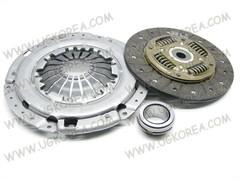 Диск сцепления+Корзина сцепления+выжимной D.NEXIA,ESPERO,LACETTI,LANOS,GENTRA V1.5/1.6/2.0 SOHC/DOHC (DWK-040)  VALEO  Корея, (дискDW-37+корз.DWC-41+выжимн.PRB-08) диск 215мм. ступица низкая